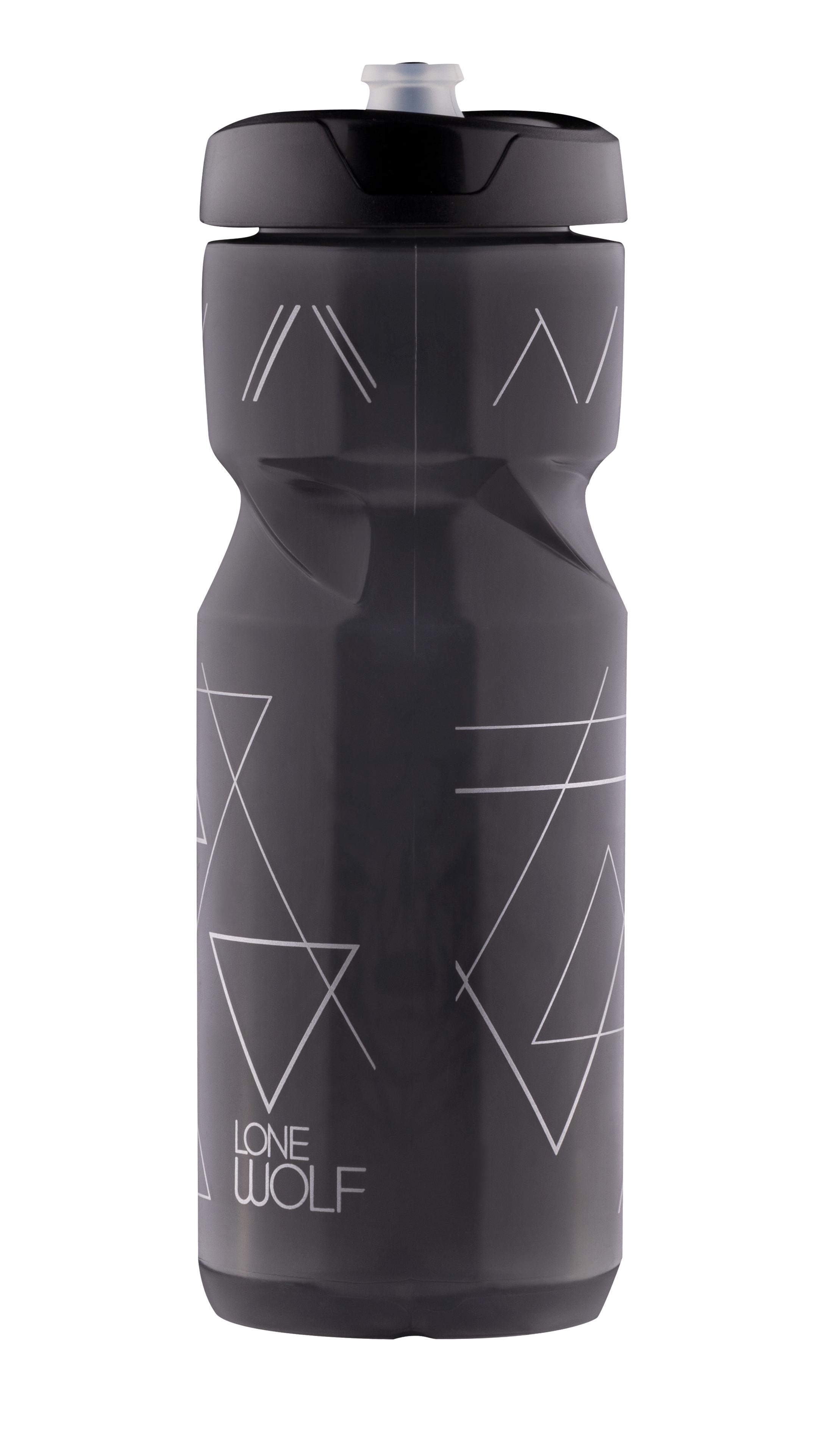 láhev FORCE LONE WOLF 0,8 l, černá kouřová-šedá
