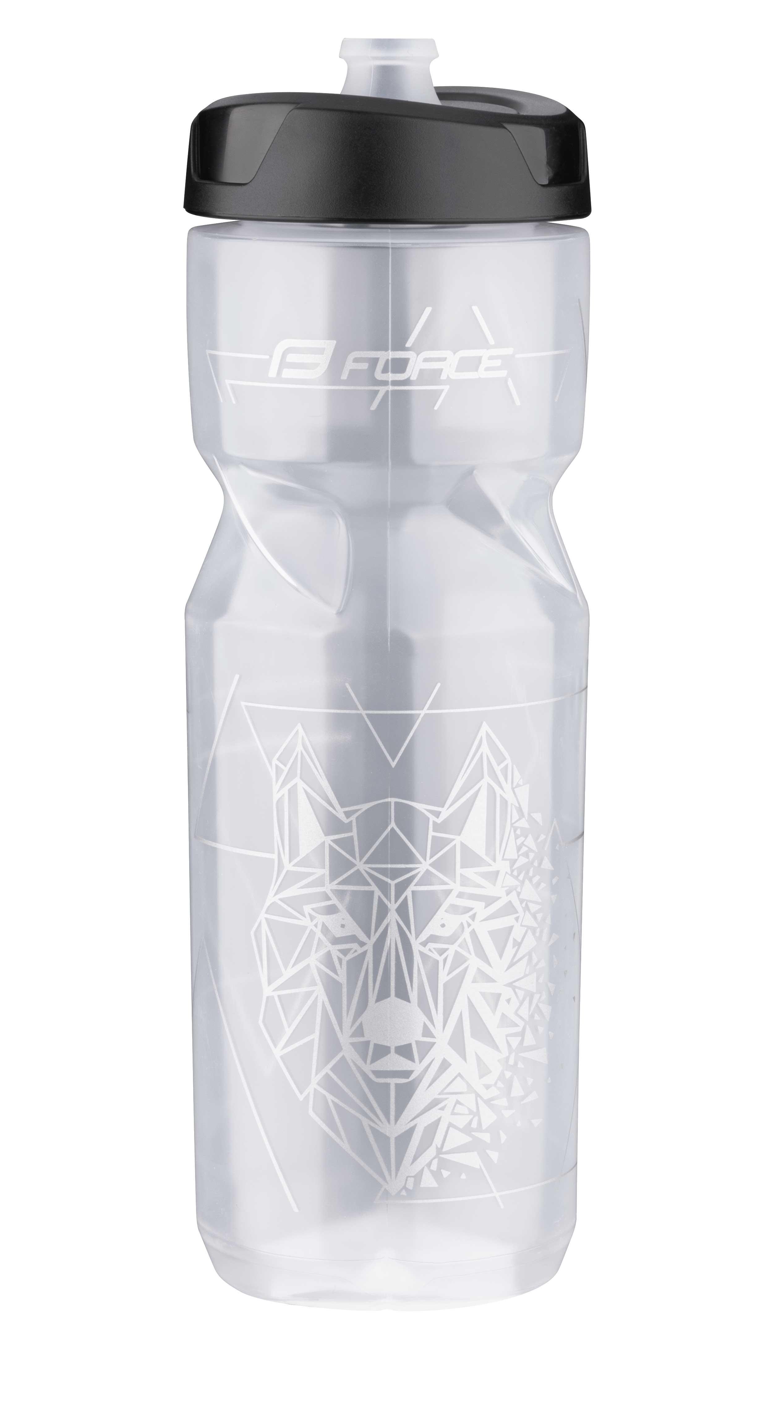 láhev FORCE LONE WOLF 0,8 l, transparentní-šedá