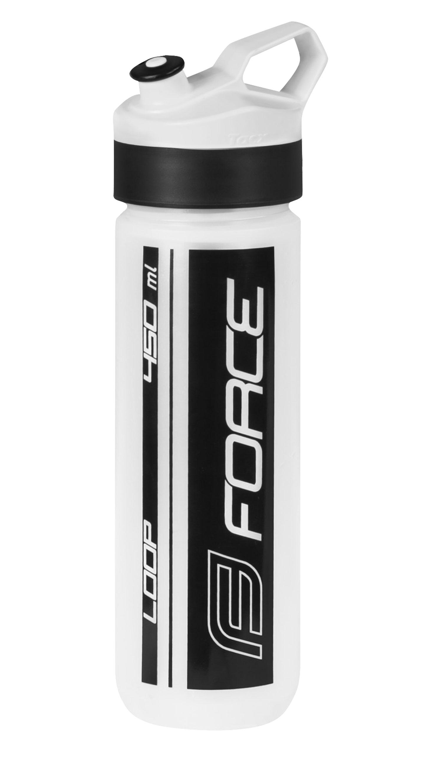 láhev FORCE LOOP 0,45 l, transparentní-černá