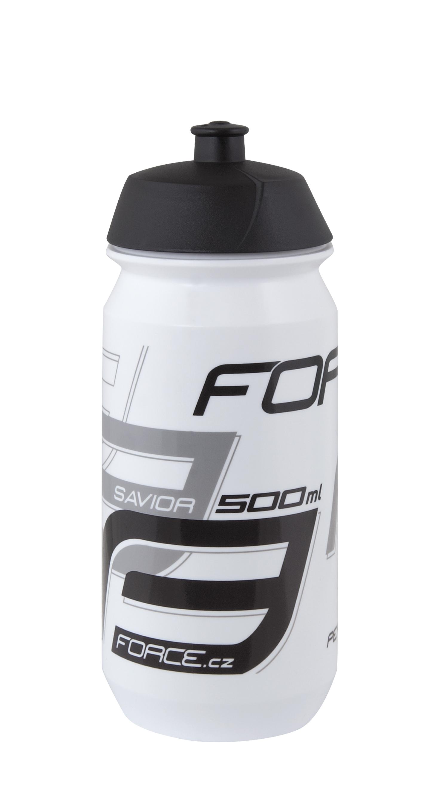 láhev FORCE SAVIOR 0,5 l, bílo-šedo-černá