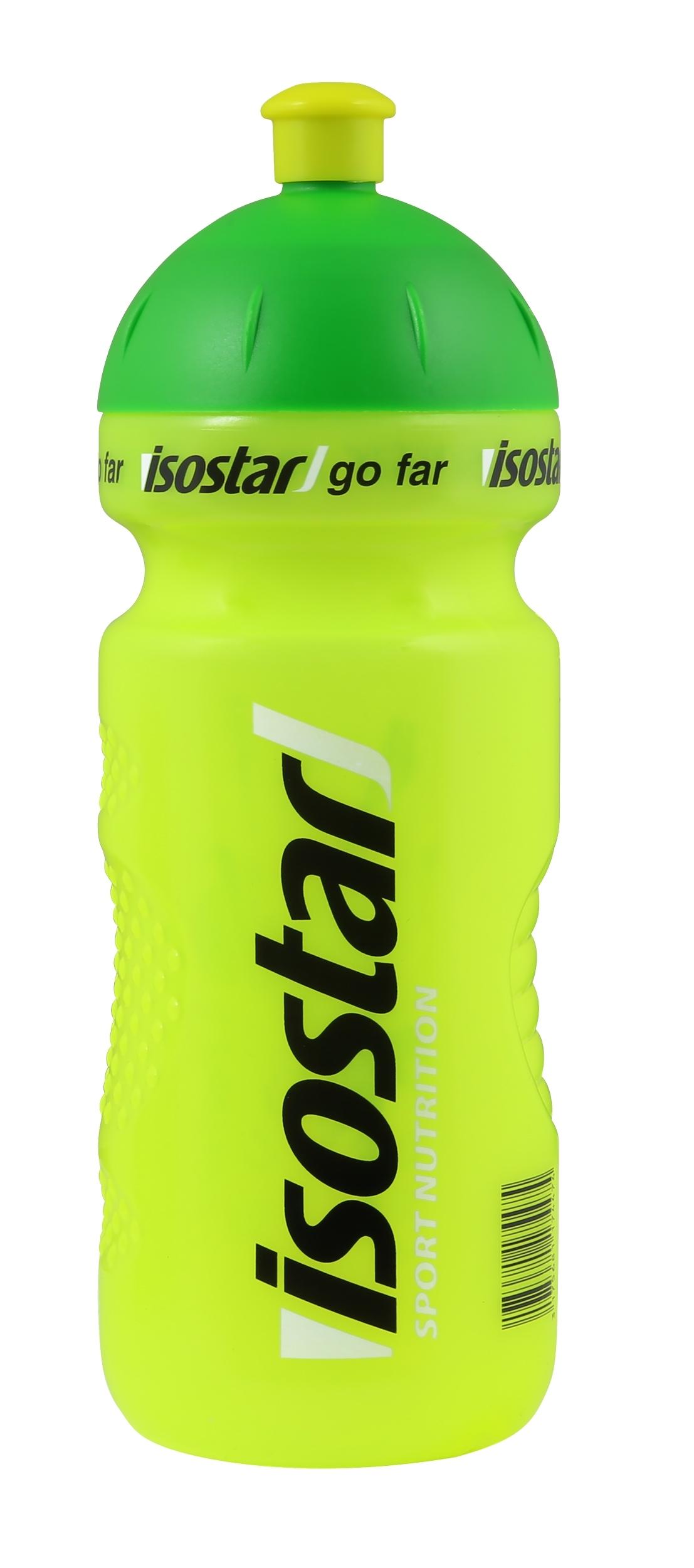 láhev ISOSTAR 0,65 l, výsuvný vršek, fluo