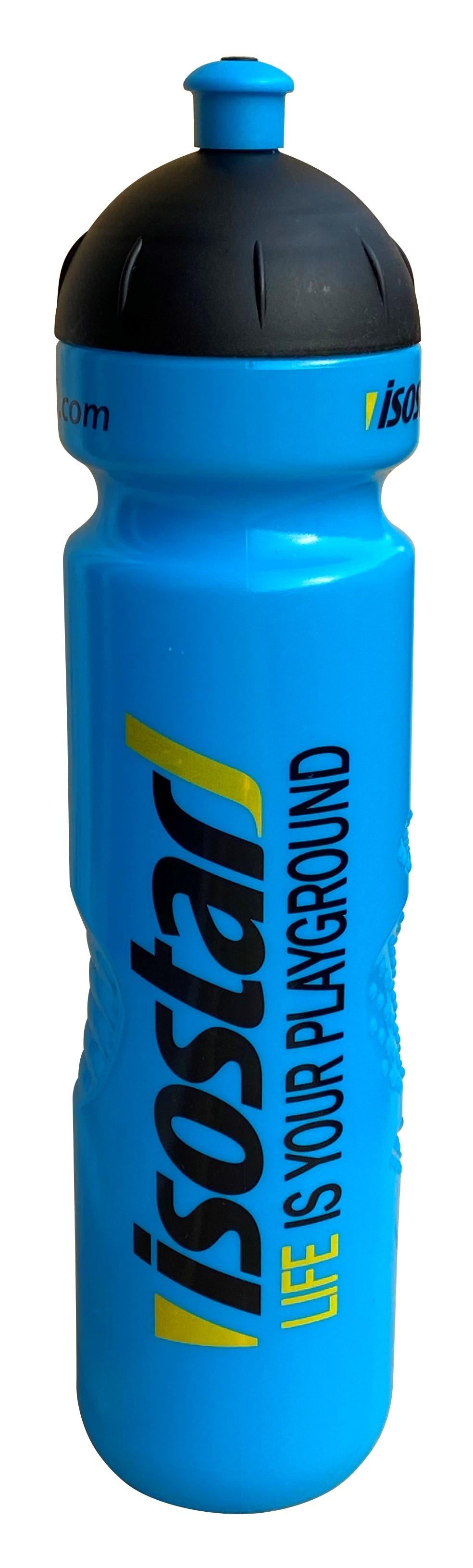 láhev ISOSTAR 1 l, výsuvný vršek, modrá