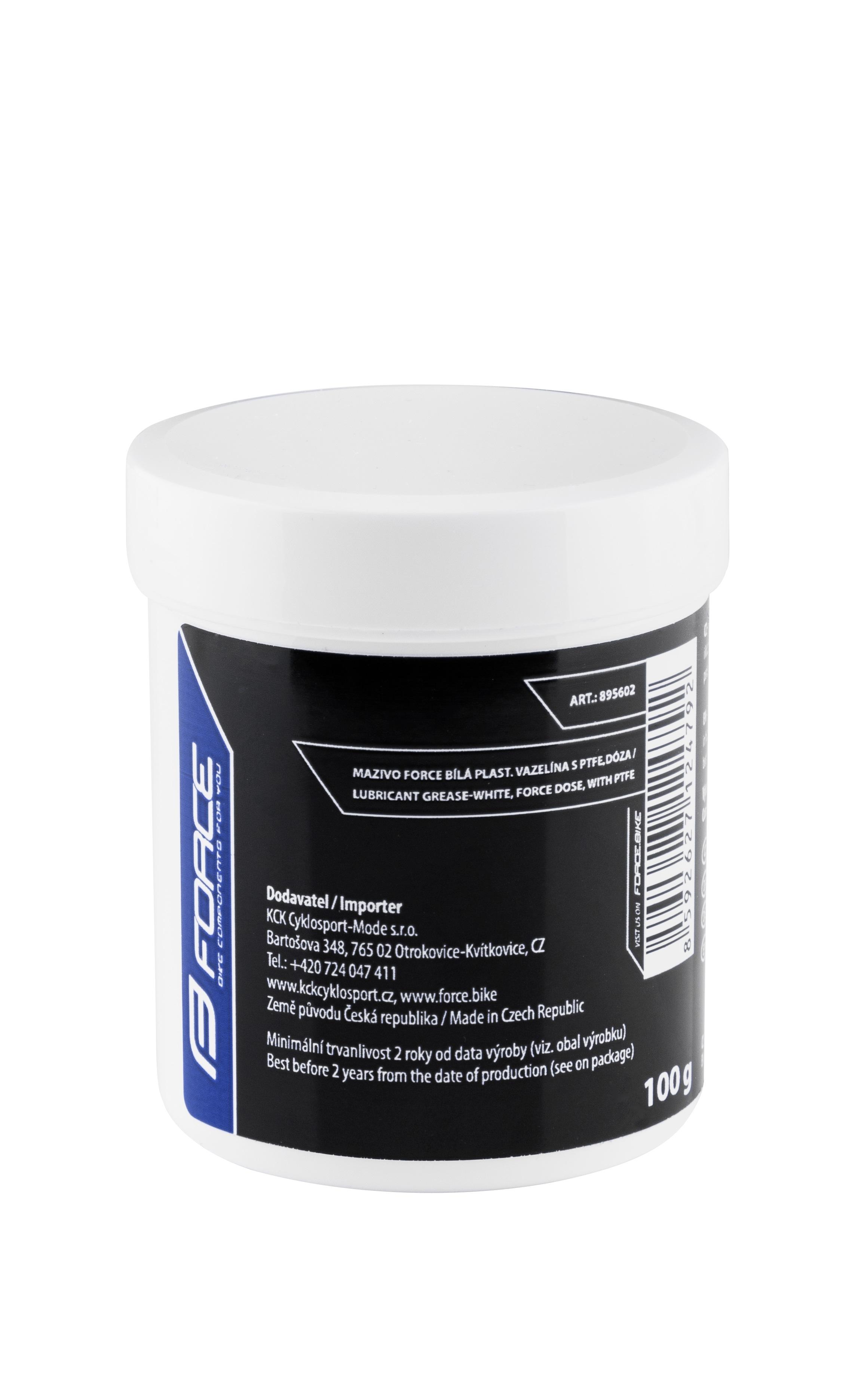 mazivo FORCE bílá plast. vazelína s PTFE,dóza 100g