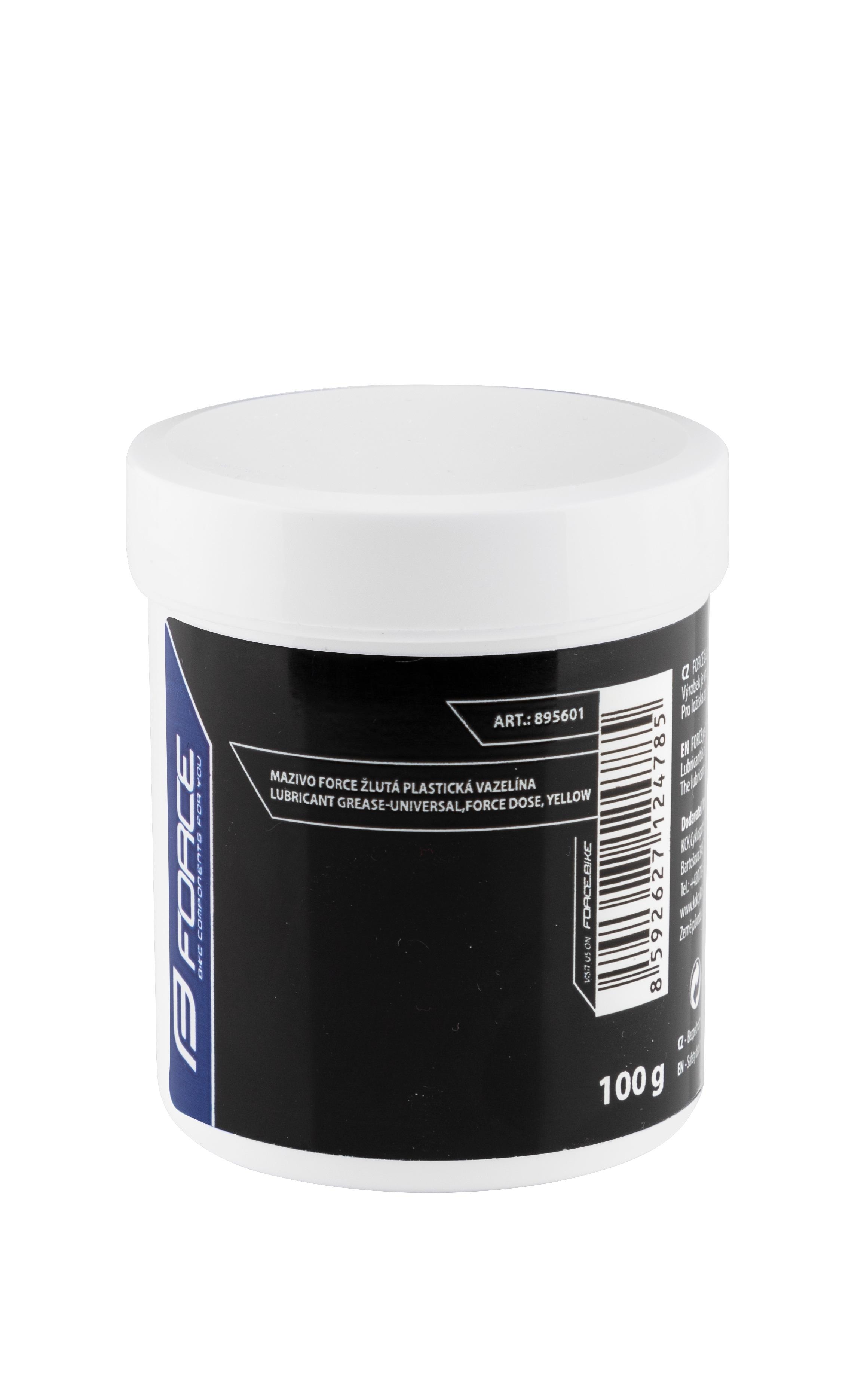 mazivo-dóza FORCE žlutá plastická vazelína, 100g