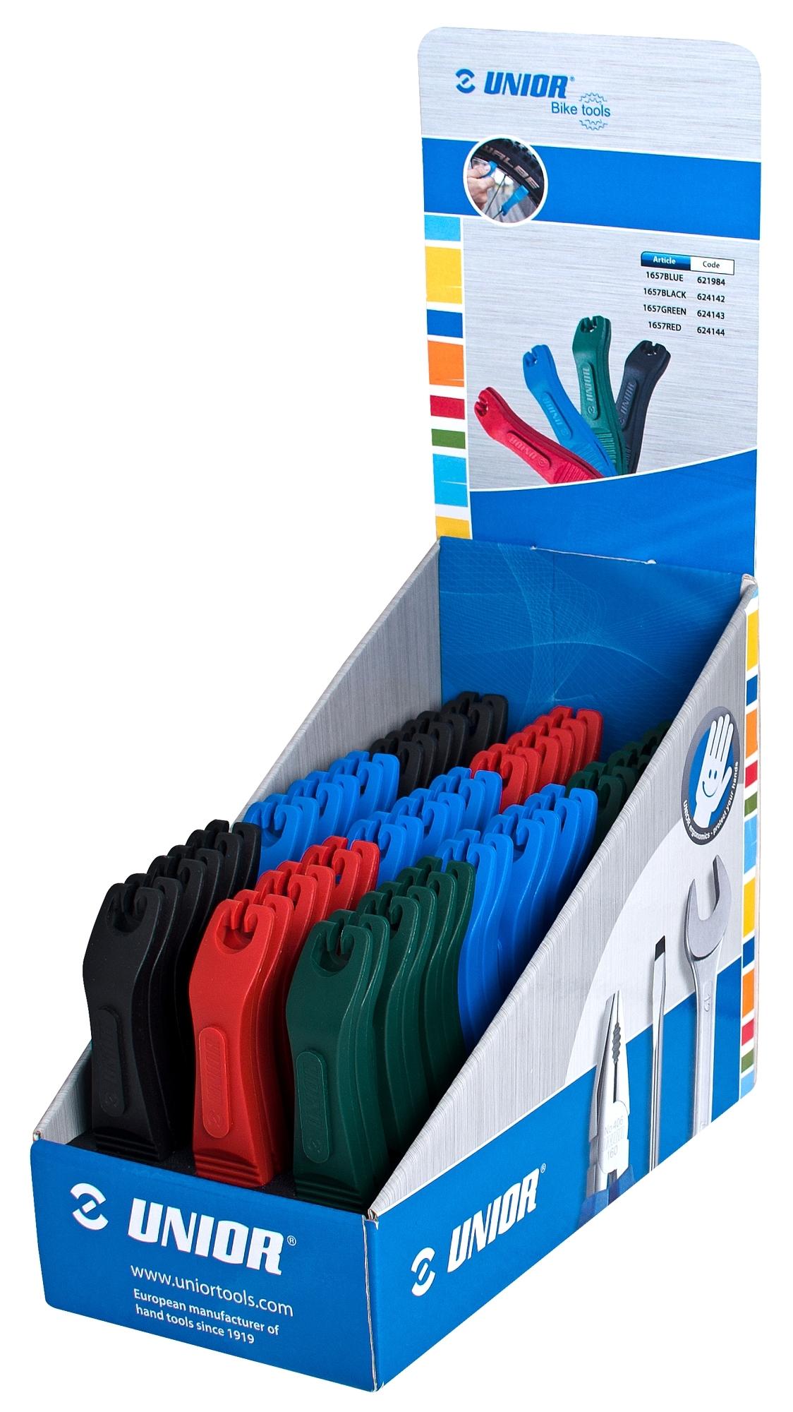 montážní páčky UNIOR plastové prodejní sada 27ks