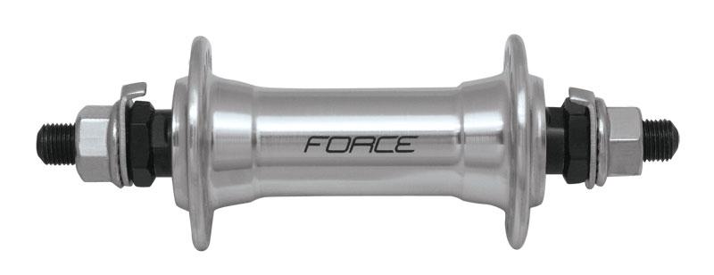 náboj přední FORCE Al pevný 36 děr, stříbrný
