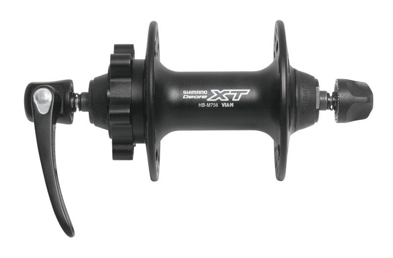 náboj přední XT HBM756 černý kot. 6 děr 32 děr