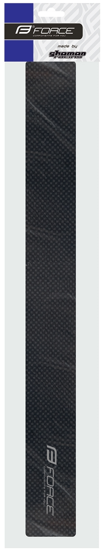 nálepka FORCE pod rám dlouhá, karbon