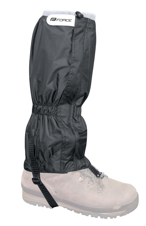 návleky FORCE SKI RIPSTOP UNI nad boty, černé