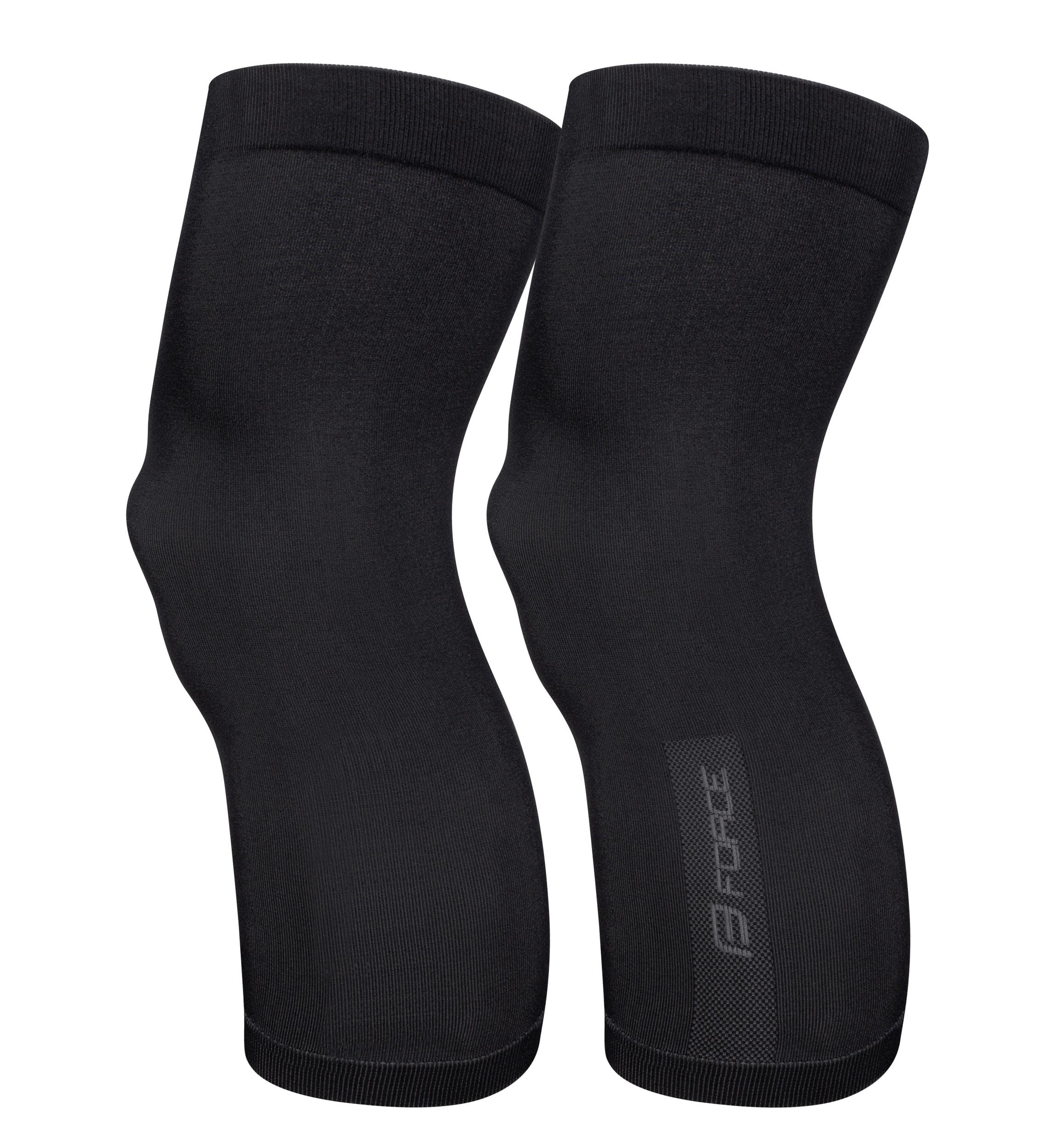 návleky na kolena FORCE BREEZE pletené, černé M-L