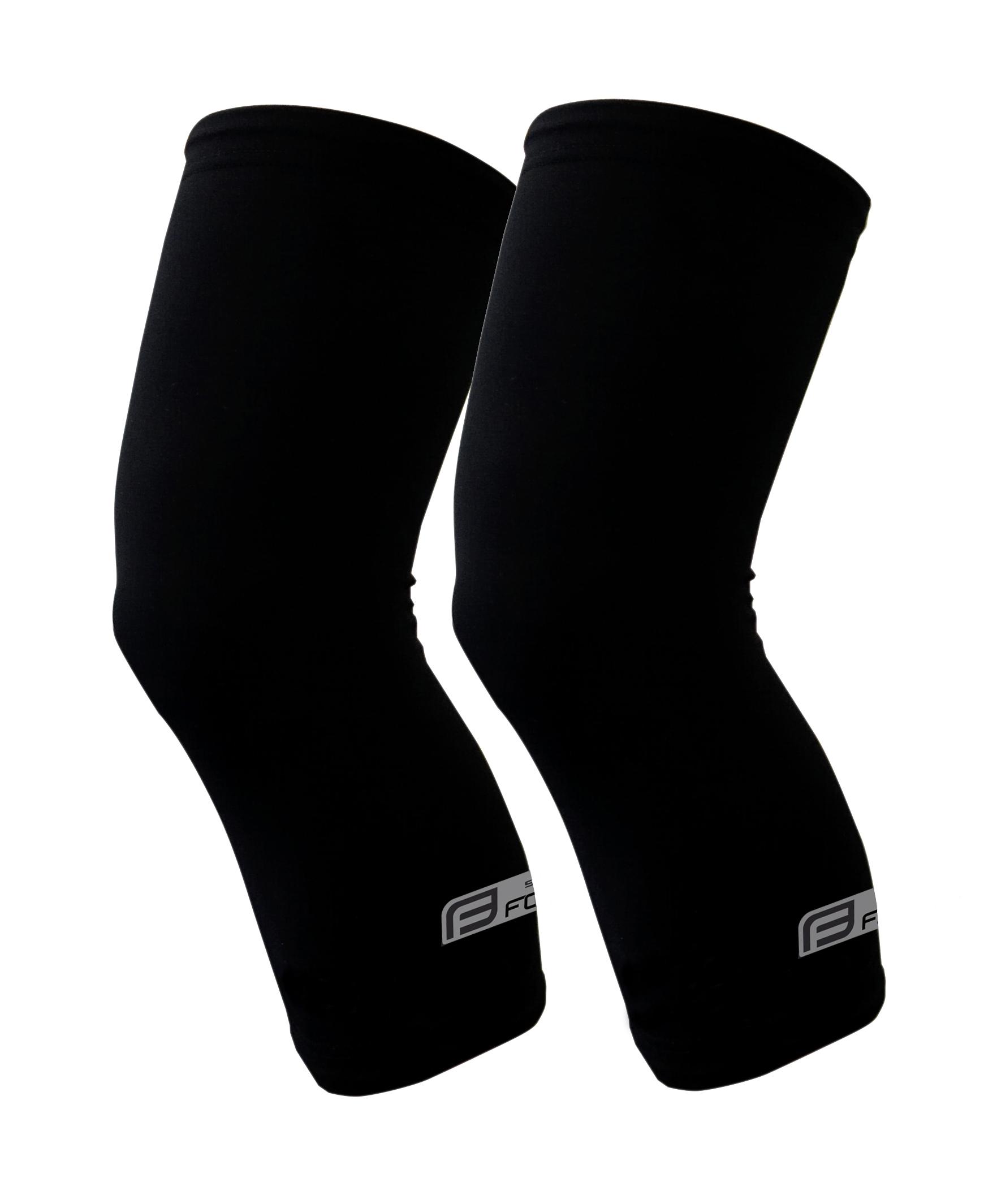 návleky na kolena FORCE RACE, lepené, černé