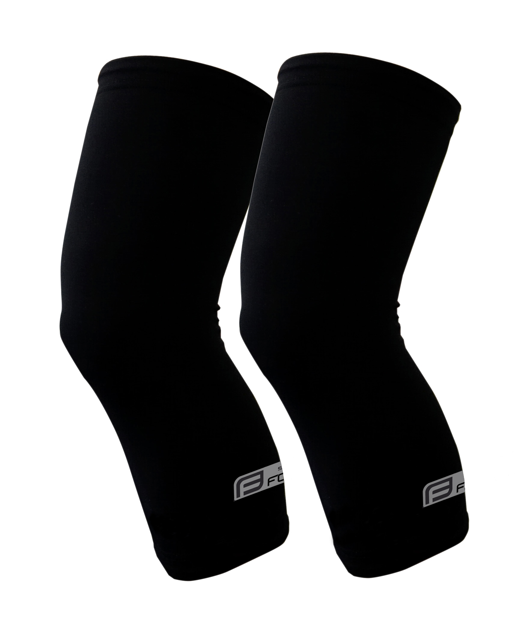 návleky na kolena FORCE RACE, lepené, černé XL
