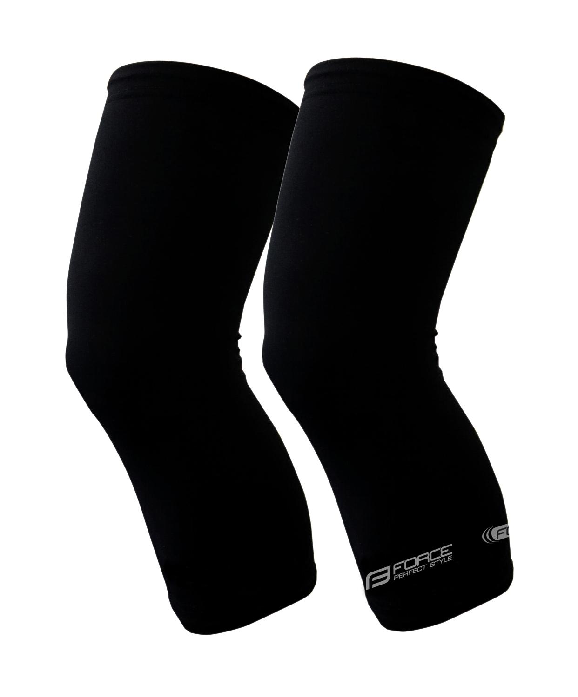 návleky na kolena FORCE TERM, černé XXL