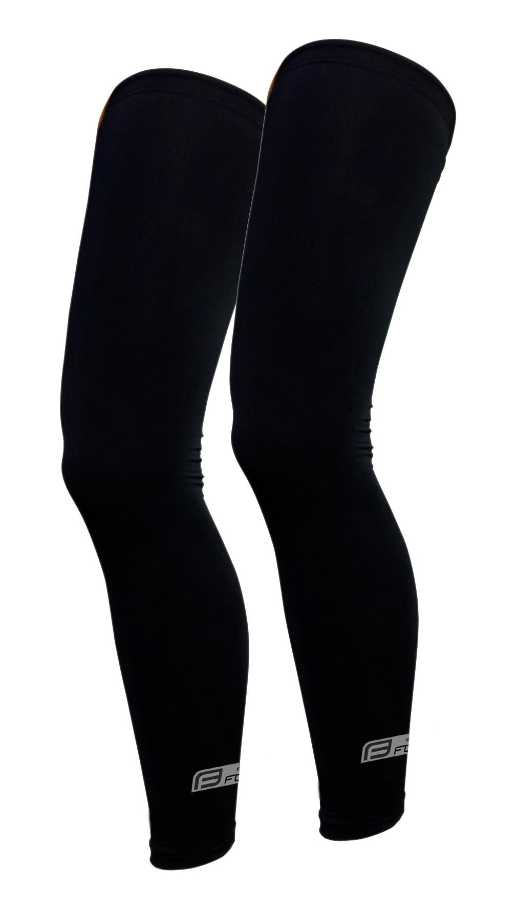 návleky na nohy FORCE RACE, lepené, černé XL
