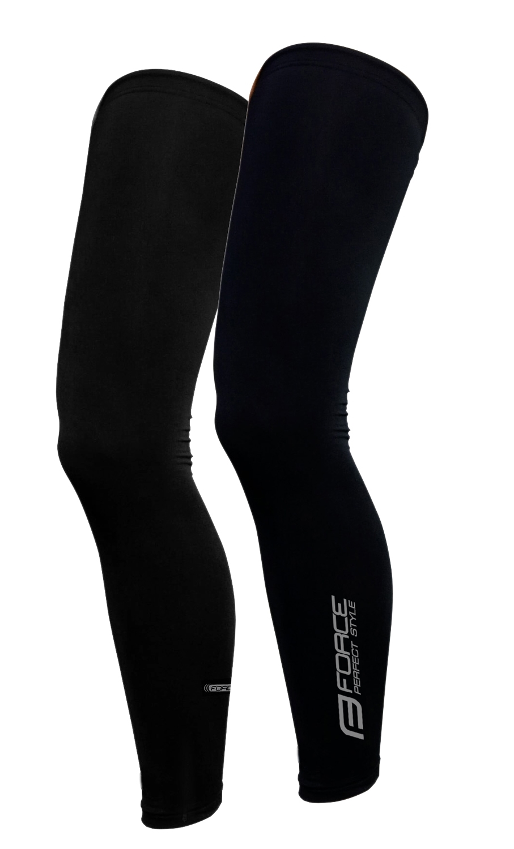 návleky na nohy FORCE TERM dlouhé, černé  L jeden kus doprodej!