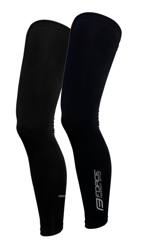 návleky na nohy FORCE TERM dlouhé, černé XXL
