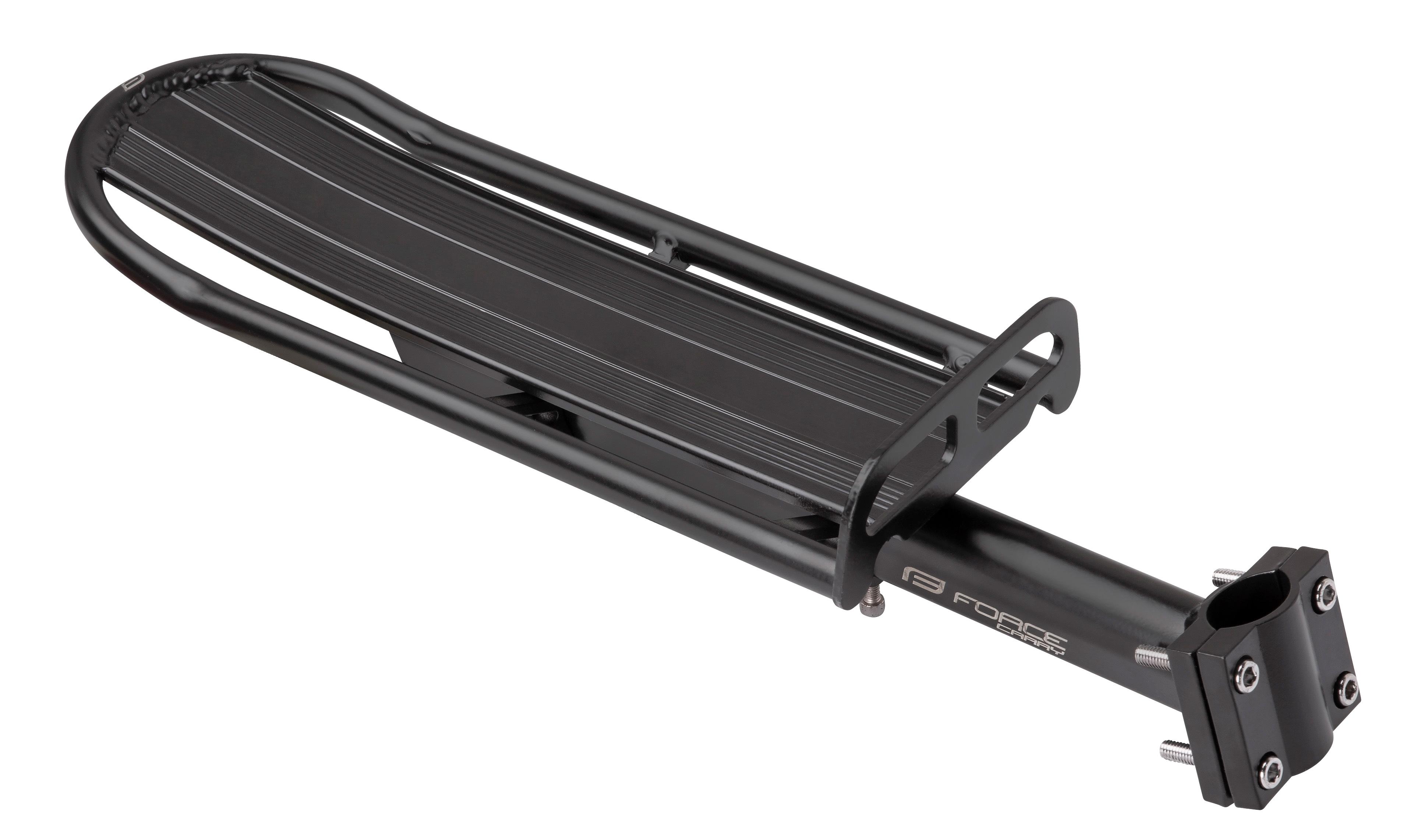 nosič FORCE CARRY na sedlovku 25,0-31,6mm Al,černý