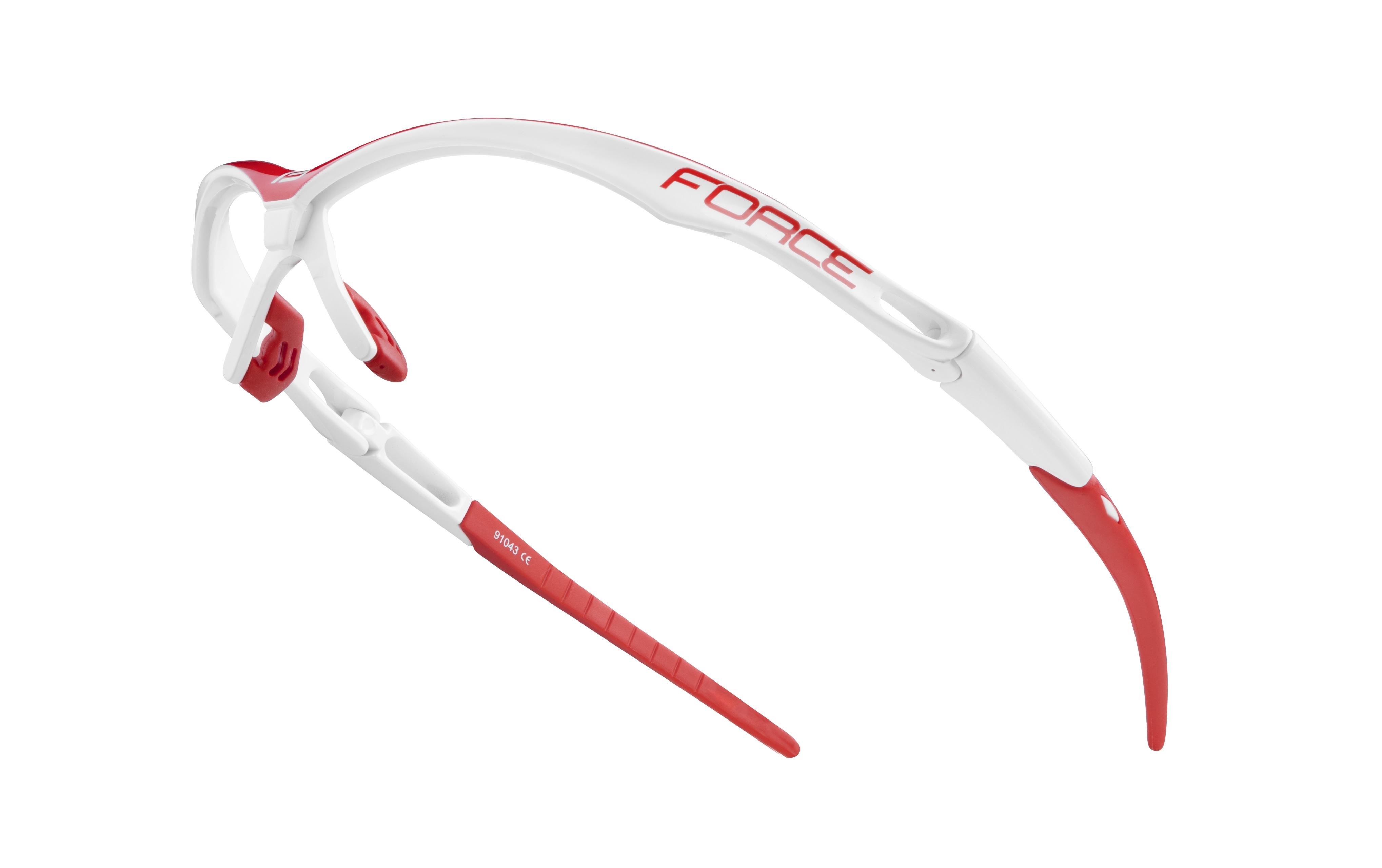 obroučky FORCE AIR bílo-červené - náhradní díl