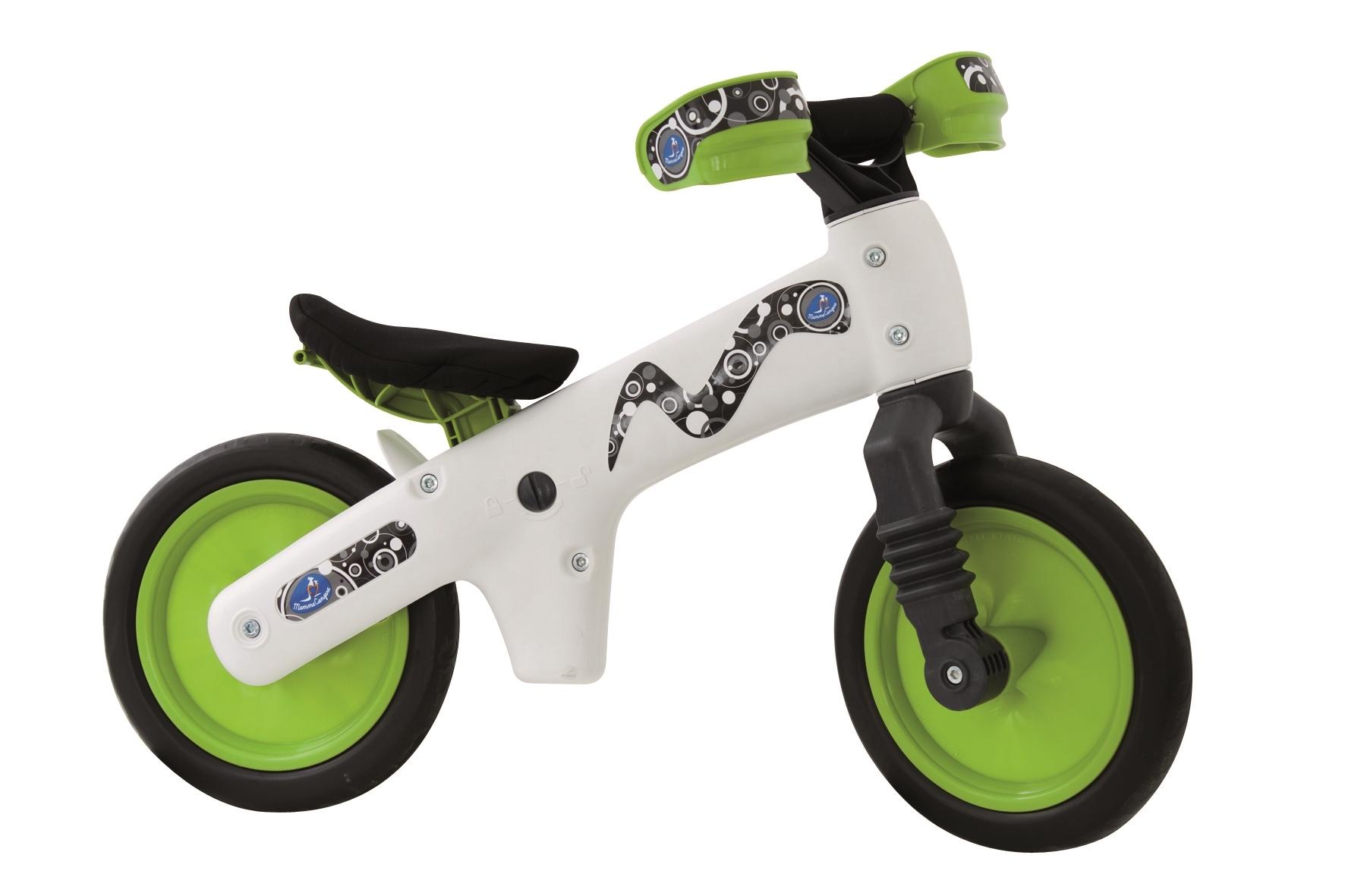 odrážedlo dětské plastové, bílo-zelené