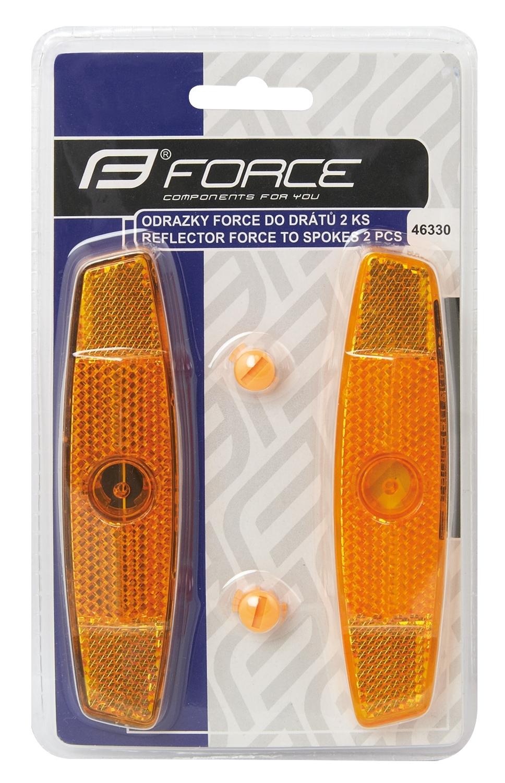 Odrazky FORCE 2 ks do drátů, oranžové
