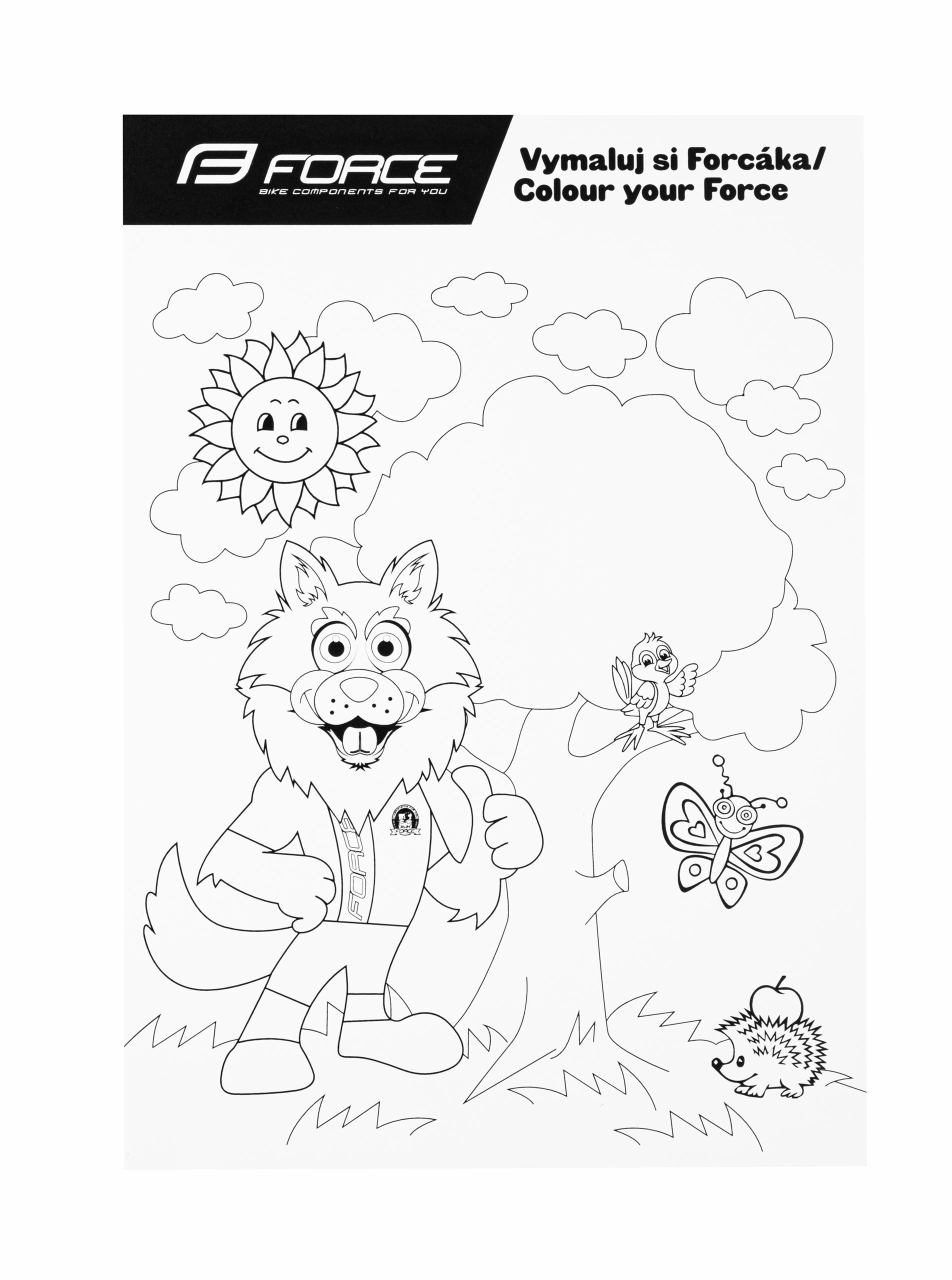 omalovánka FORCE WOLF dětské A4