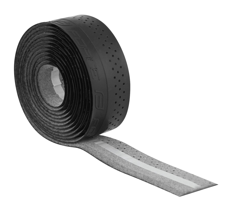 omotávka FORCE PU s vytláčeným logem, černá