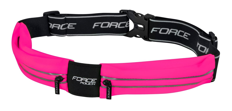 opasek běžecký FORCE POUCH, růžový