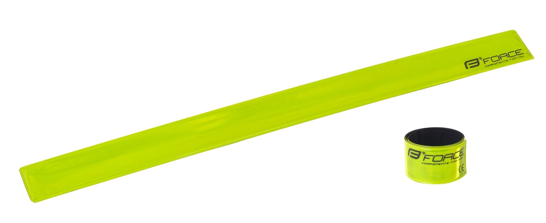 pásek FORCE samonavíjecí 38 cm, žlutý