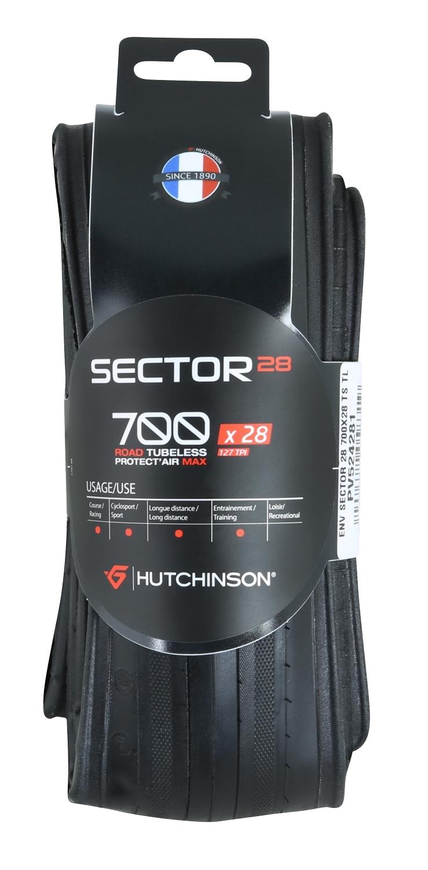 plášť HUTCH. SECTOR 700x28 TLR kevlar, černý