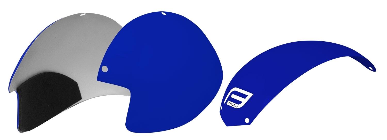 plasty k přilbě FORCE GLOBE sada 3 ks, modré
