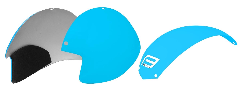plasty k přilbě FORCE GLOBE sada 3ks, světlemodré