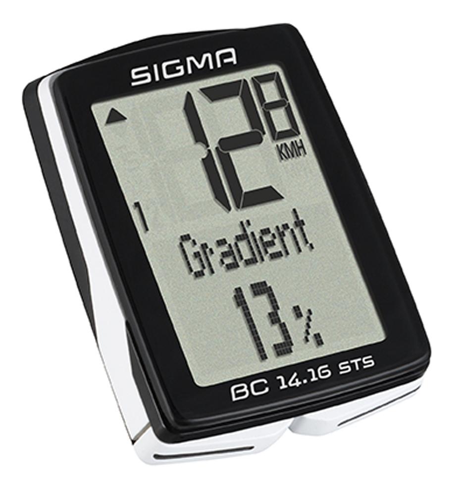 počítač SIGMA BC 14.16 STS CAD 14funk. bezdrát črn