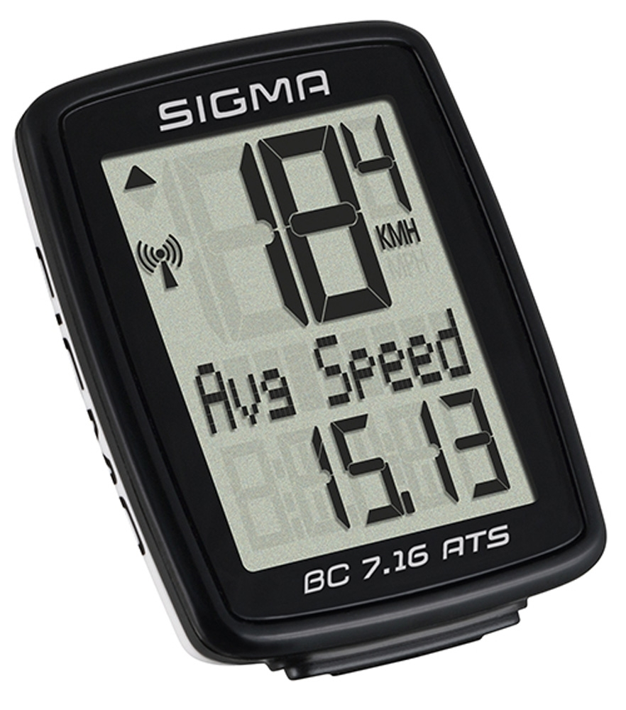 počítač SIGMA BC 7.16 ATS, 7 funkcí bezdrát černý