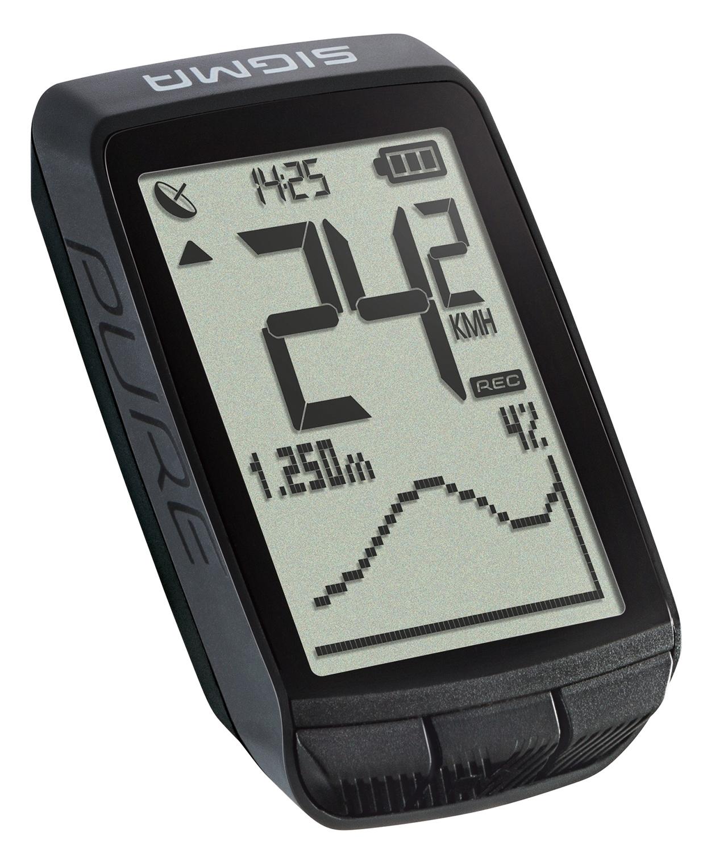 počítač SIGMA PURE GPS, 20 funkcí bezdrát černý