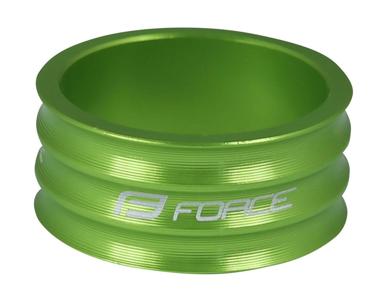"""podložka FORCE 1 1/8"""" AHEAD 15 mm Al, zelená"""