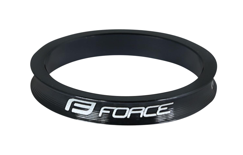"""podložka FORCE 1 1/8"""" AHEAD 5 mm Al, černá"""