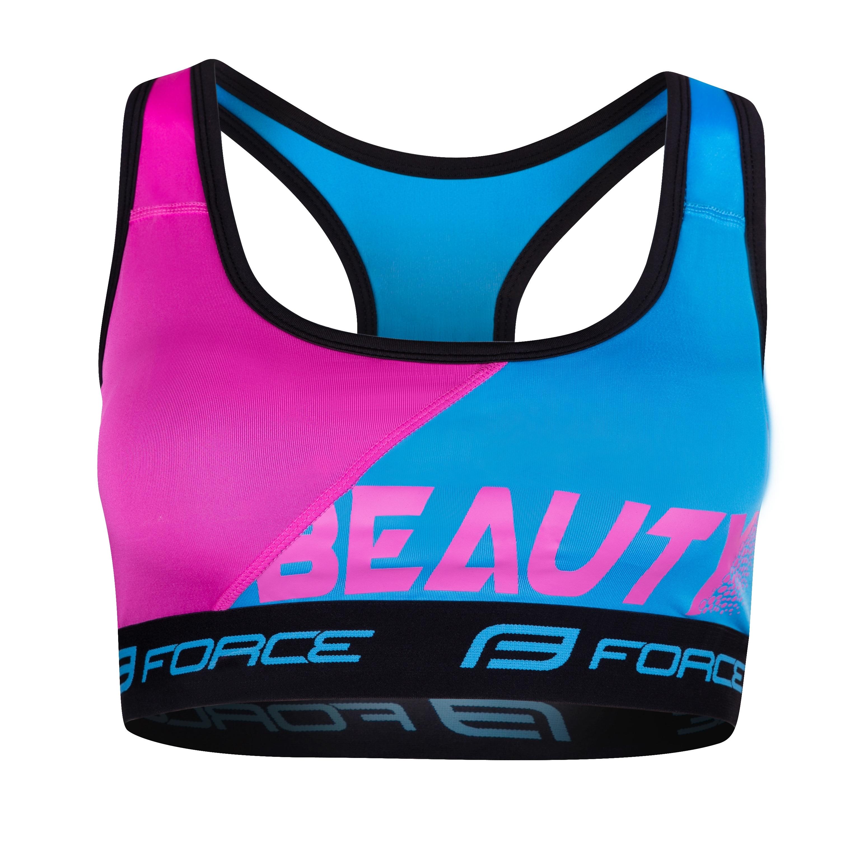 podprsenka sportovní FORCE BEAUTY,modro-růžová XS
