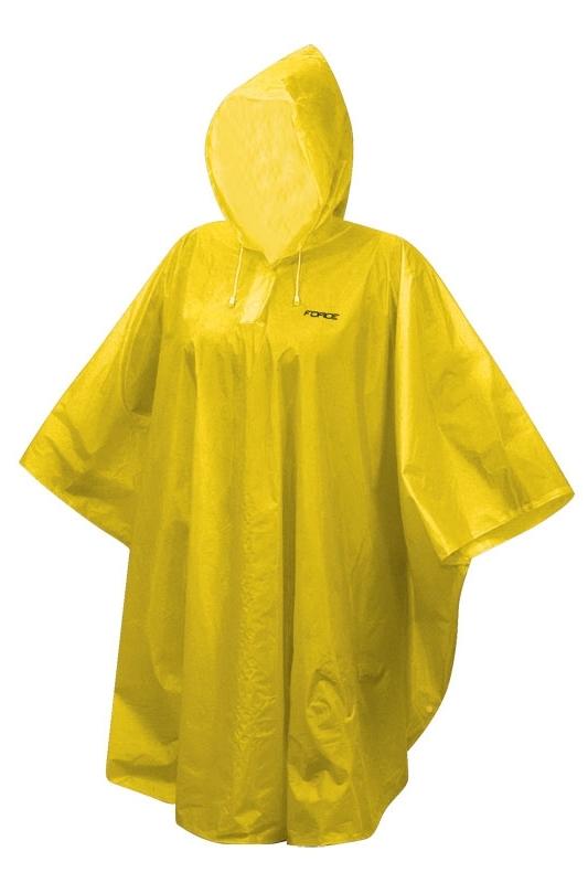 poncho FORCE KID dětské nepromokavé, žluté XS - M