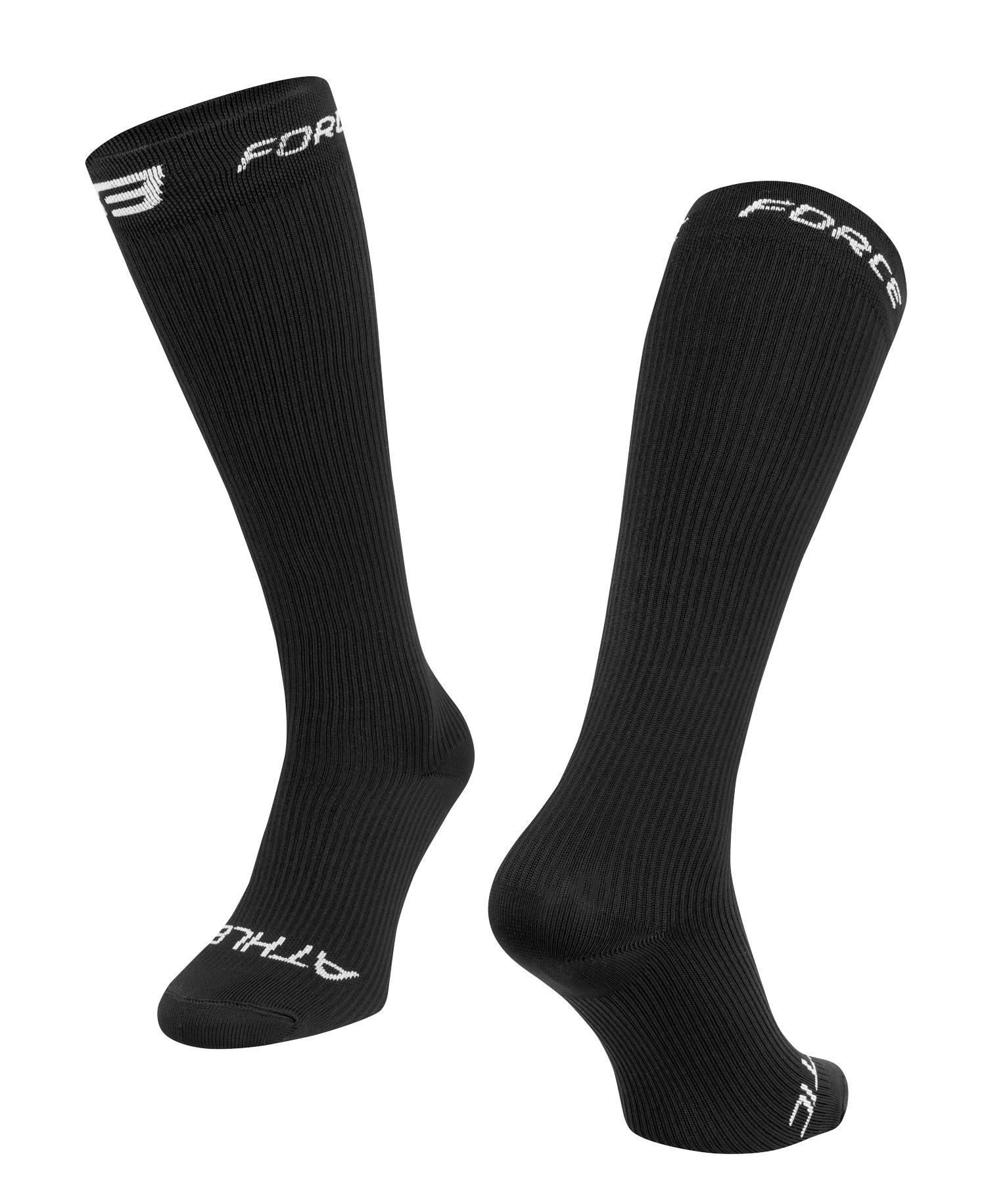 ponožky FORCE ATHLETIC KOMPRESNÍ, černé S - M