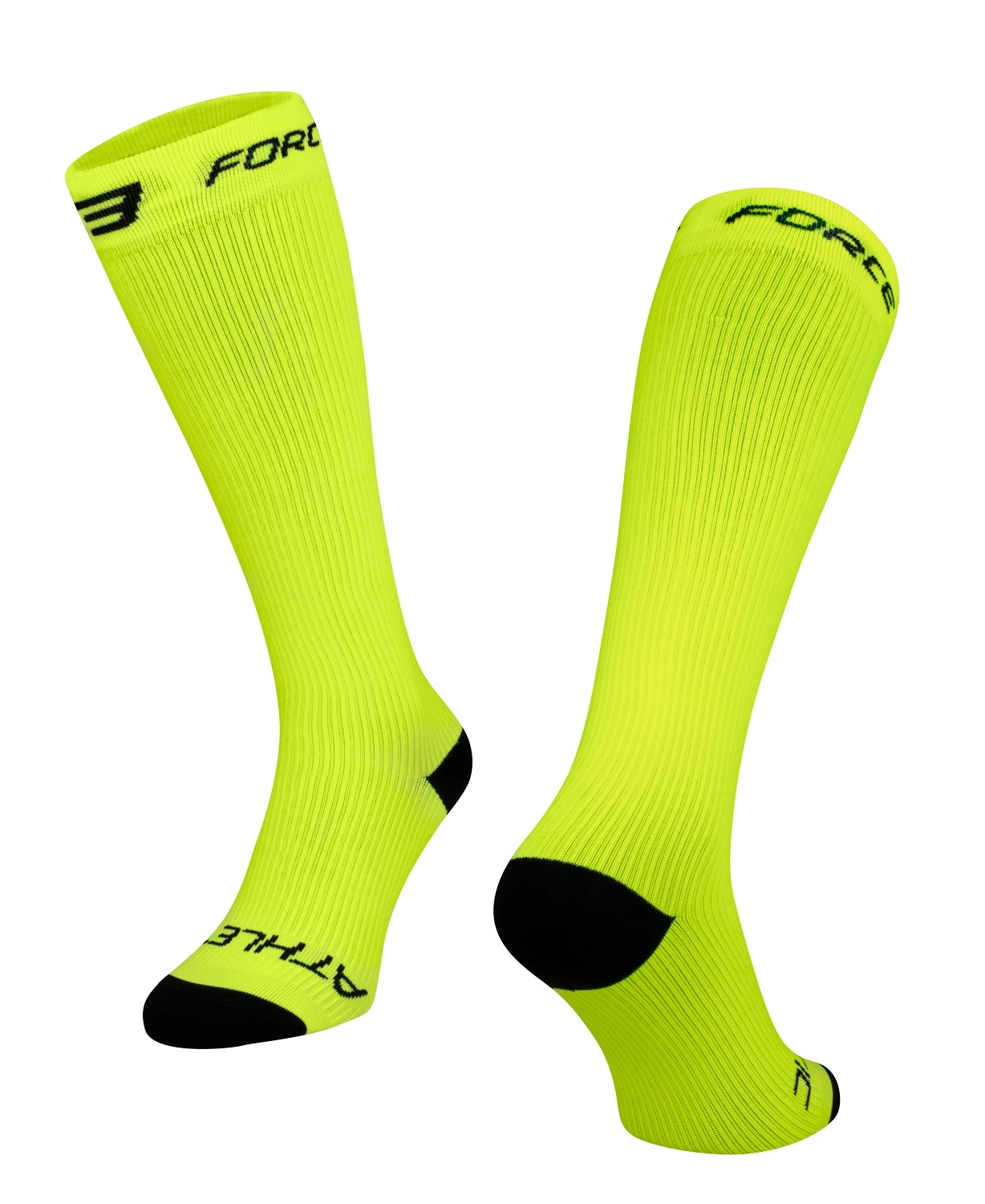 ponožky FORCE ATHLETIC KOMPRESNÍ, fluo L - XL
