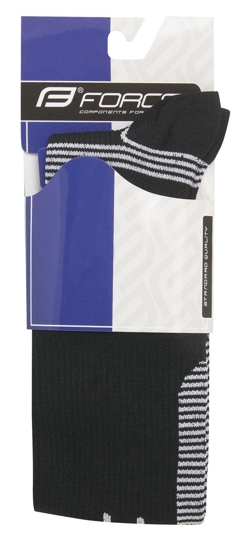 ponožky F ATHLETIC PRO KOMPRES,čer-bílé L-XL/42-47