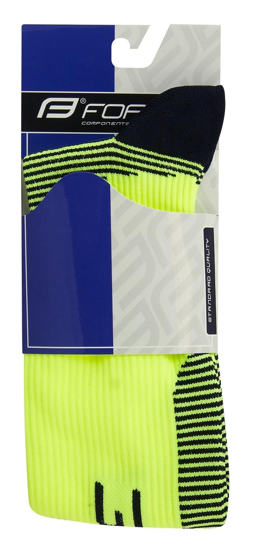 ponožky F ATHLETIC PRO KOMPRES, fl-černé XS/30-35
