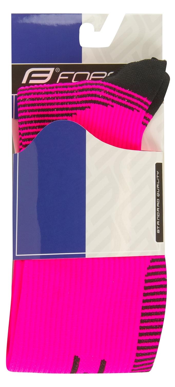 ponožky F ATHLETIC PRO KOMPRES,růž.-črn.L-XL/42-47