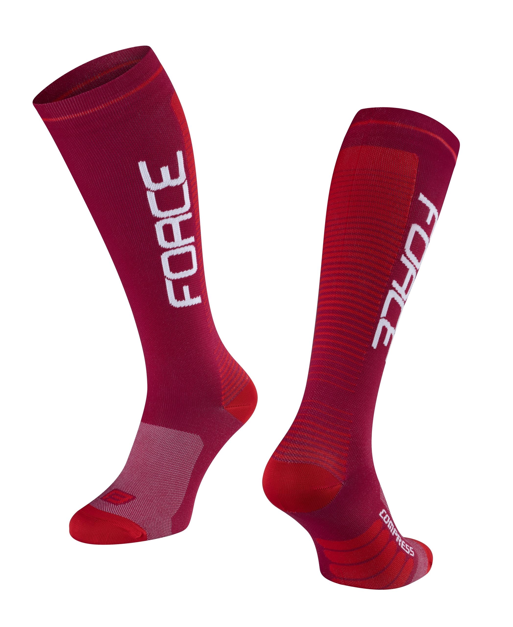 ponožky F COMPRESS, bordó-červené S-M/36-41