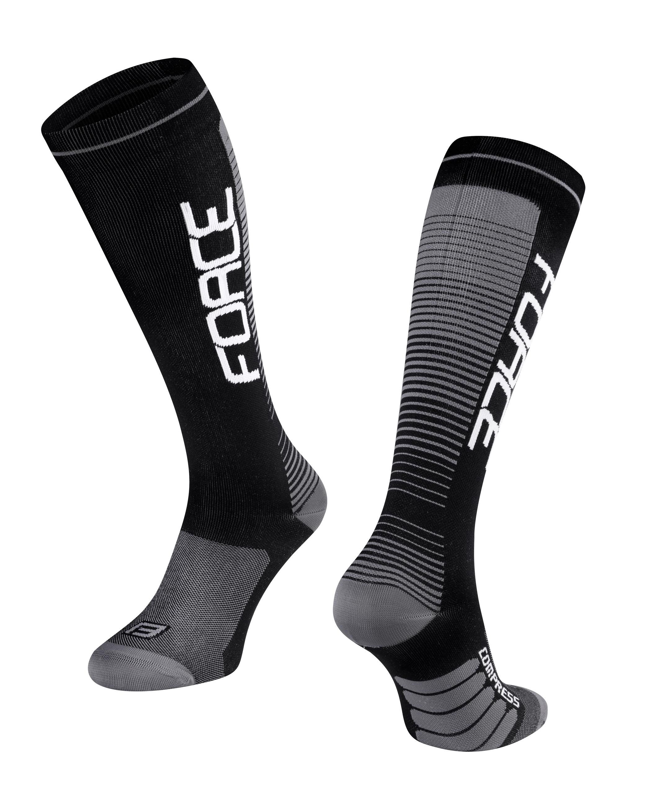 ponožky F COMPRESS, černo-šedé L-XL/42-47