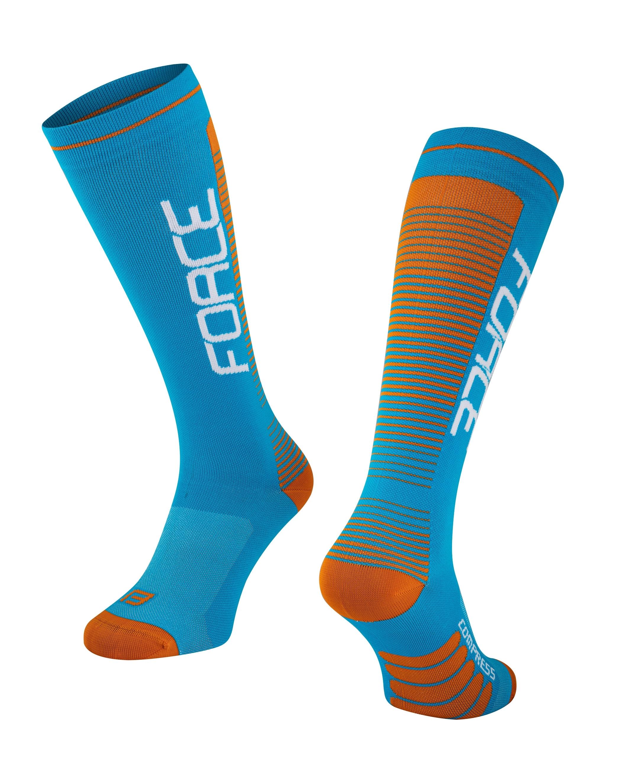 ponožky F COMPRESS, modro-oranžové S-M/36-41
