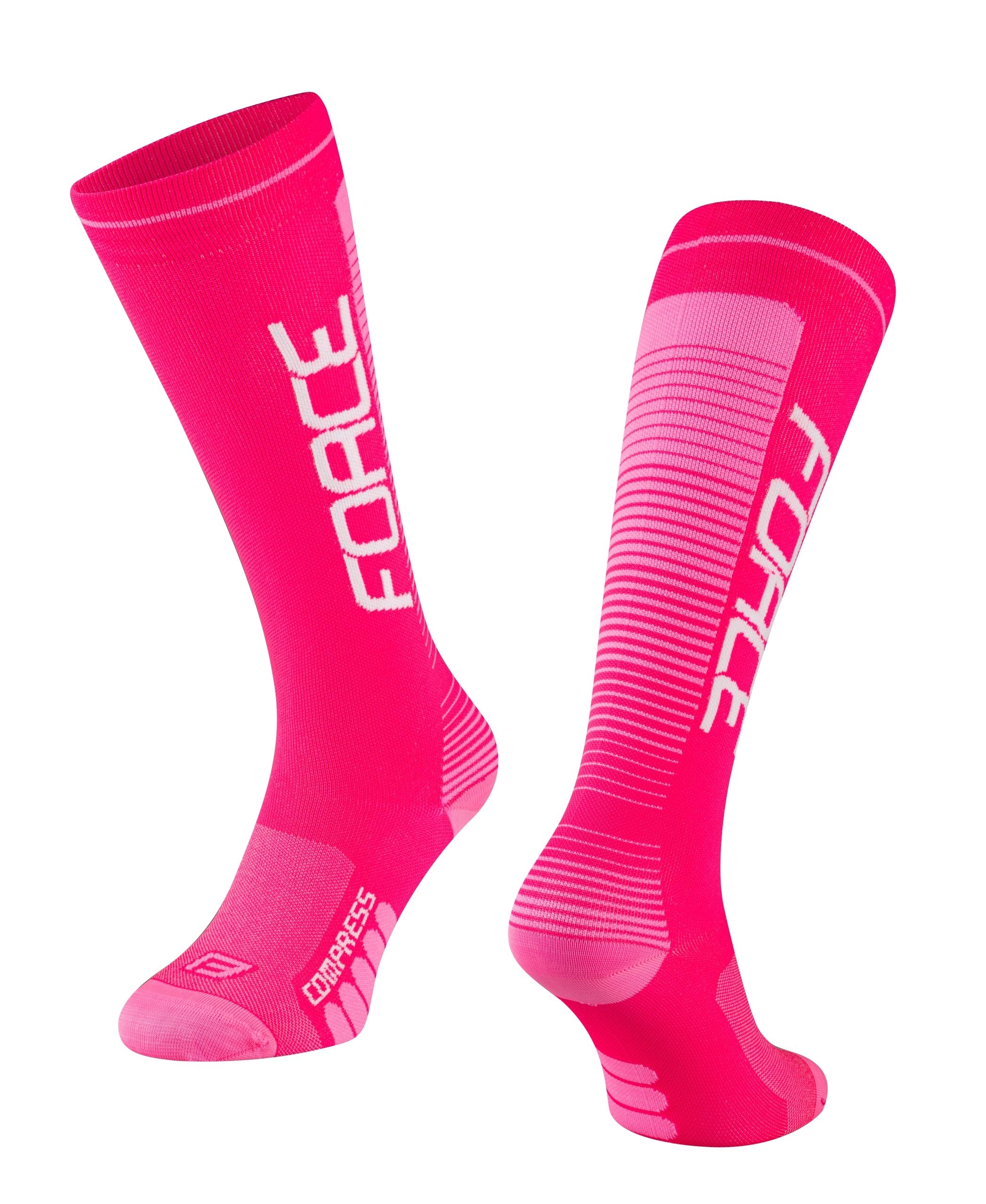 ponožky F COMPRESS, růžové L-XL/42-47