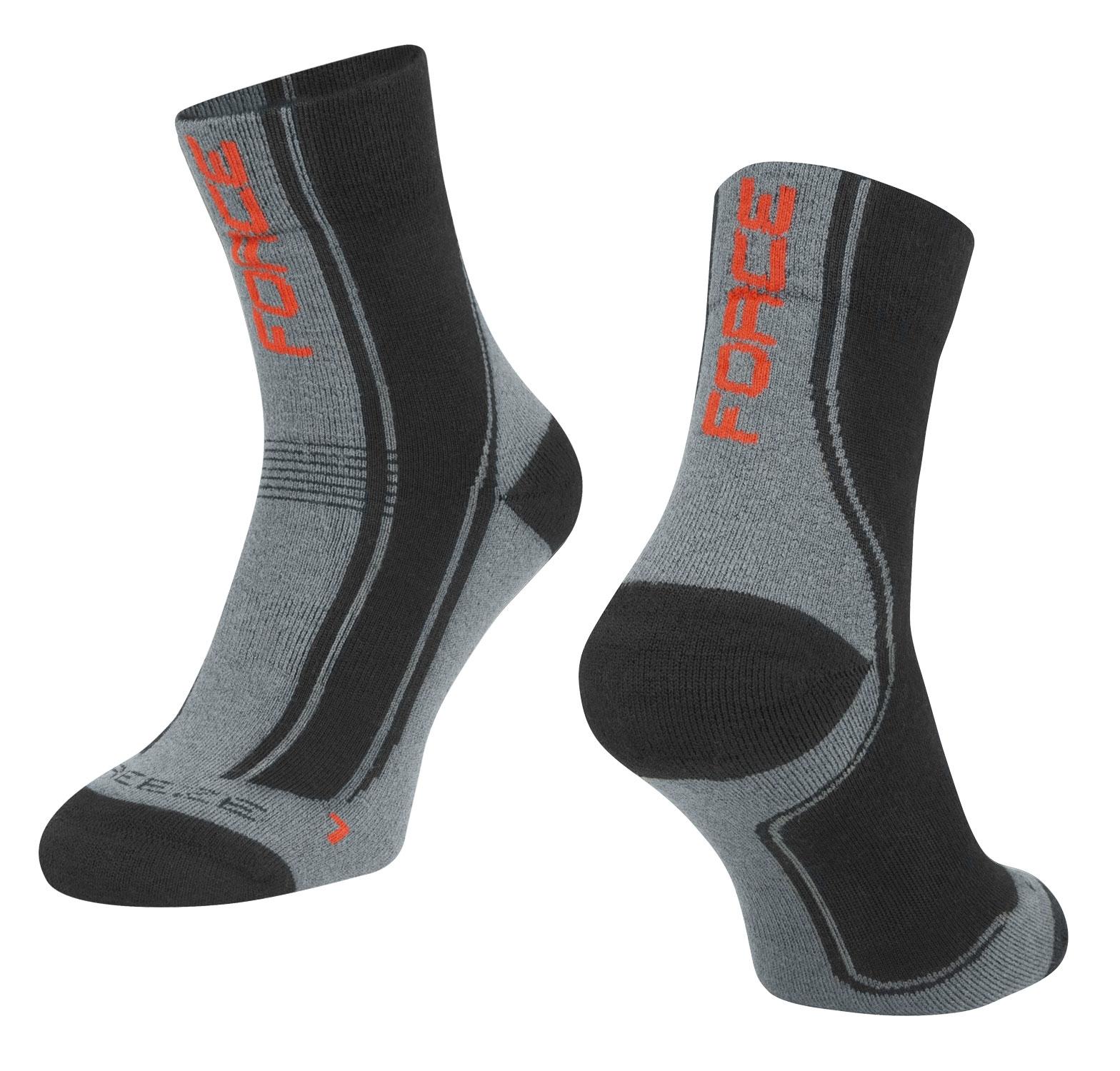 ponožky F FREEZE, černo-šedo-červené L-XL/42-47