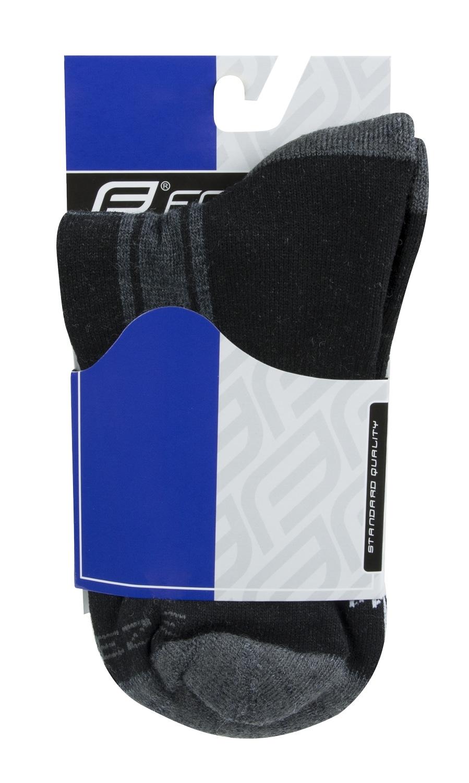 ponožky F FREEZE, šedo-černo-bílé XS/30-35