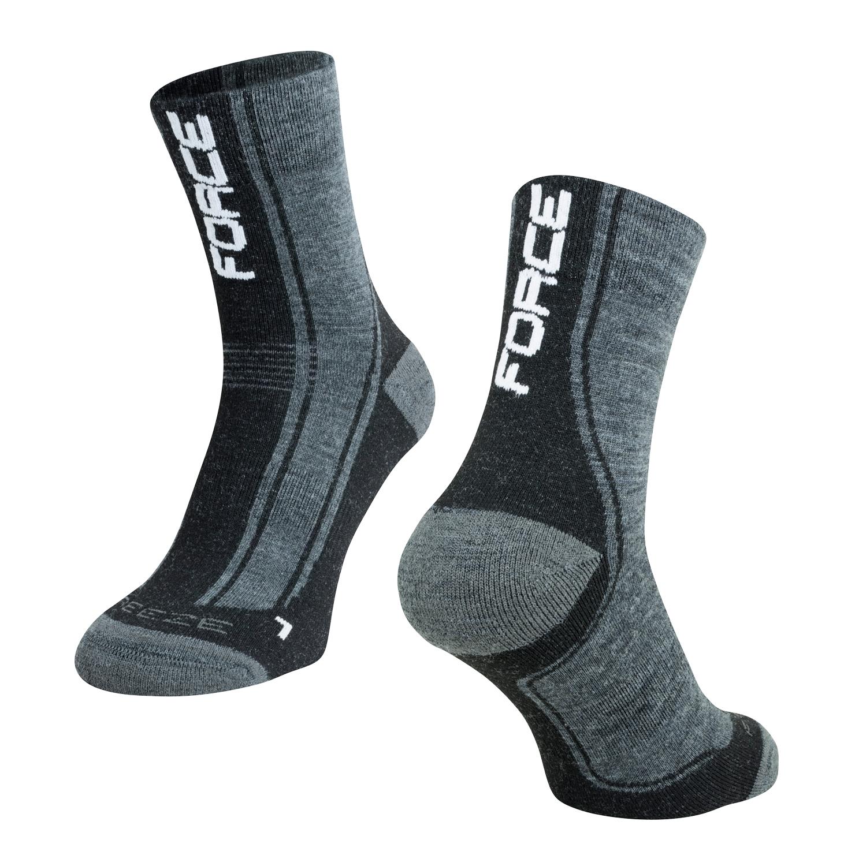 ponožky F FREEZE, šedo-černo-bílé XXL/48-49